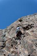 Rock Climbing Photo: Cory Smith leading Jug Haul