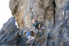 Rock Climbing Photo: Nelson on the opening moves of The Scene is Not fo...