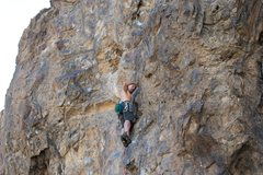 Rock Climbing Photo: Nelson past the initial crux of Scene is not for S...