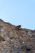 Rock Climbing Photo: This route goes to the right, as opposed to what t...