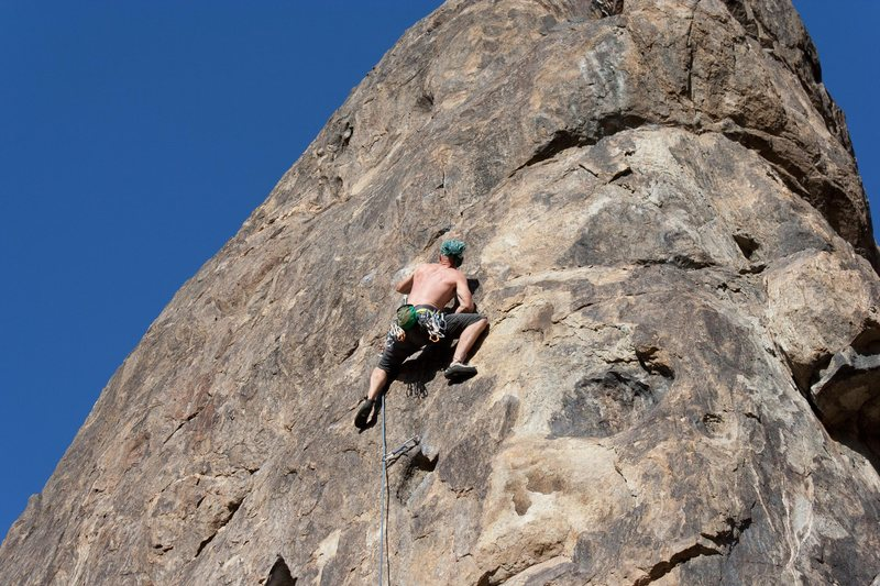 Nelson on Gun for Hire (thought it was Room for Improvement courtesy of the southern california sport climbing guide book)