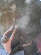 Rock Climbing Photo: Myself on the start holds
