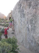 Rock Climbing Photo: Buttermilk bouldering on a chilly morning...