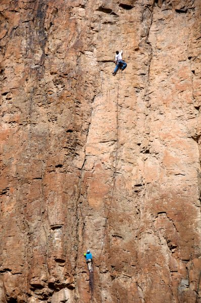 Rock Climbing Photo: Aaron and Amy on the second pitch of Icarus. Janua...