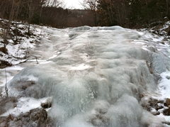 Rock Climbing Photo: First ice step