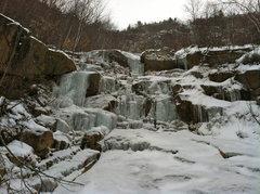 Rock Climbing Photo: Second ice step.