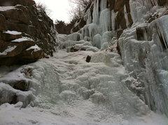 Rock Climbing Photo: Ice step.
