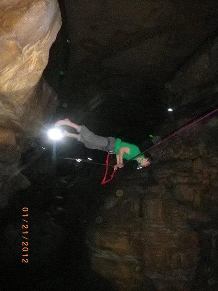 Rock Climbing Photo: cody pettijohn's cave highline slackline