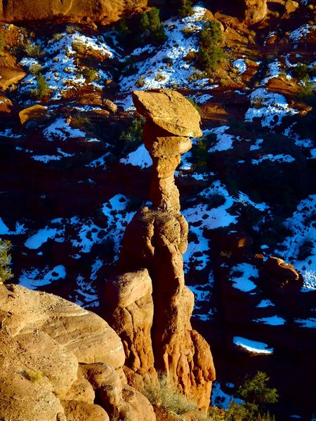 Rock Climbing Photo: Another vantage of the cobra as viewed from the ba...