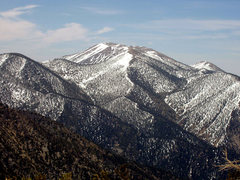 Rock Climbing Photo: San Gorgonio mtn from the west.