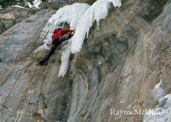 Rock Climbing Photo: Just below the third bolt on Dragon's Tongue.
