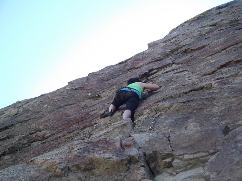 Rock Climbing Photo: Desirae my loving wife scared of heights and climb...