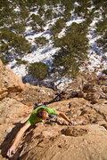 Rock Climbing Photo: Finishing up the cream slab.  Photo © Ryan Day Th...