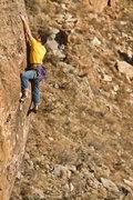 Rock Climbing Photo: Finishing up the steep, juggy crux of Arnold! Arno...