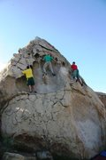 Rock Climbing Photo: Lots of options on the Hueco Boulder