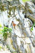 Rock Climbing Photo: Igan Aragon on Cafe De Wawa-5.11b route