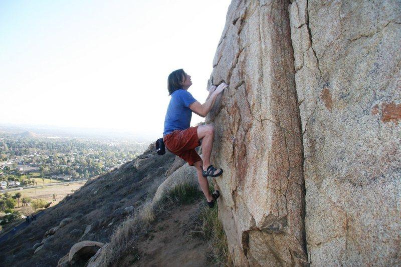 Rock Climbing Photo: Good holds and nice rock