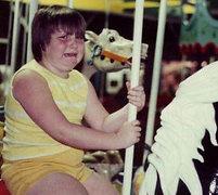 Rock Climbing Photo: Carousels can be terrifying.