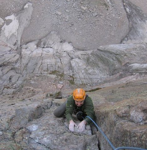 Rock Climbing Photo: Pulling through the crux....