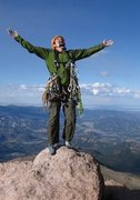 Rock Climbing Photo: Excited to make the summit despite severe weather ...
