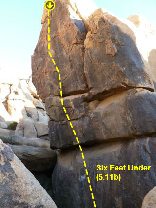 Six Feet Under (5.11b), The Cemetery