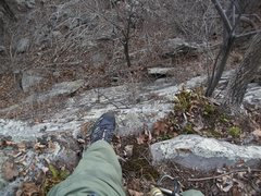Rock Climbing Photo: Looking down from black sheep