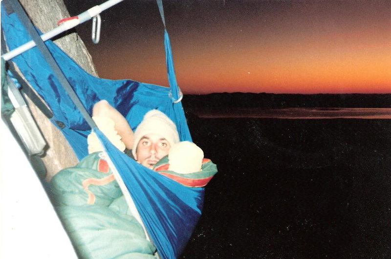 Poto taken by Dibbs our first climb Pan Am, Baja