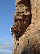 Rock Climbing Photo: DAS pulling through the beginning of the crux sequ...