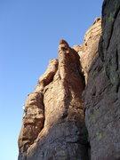 Rock Climbing Photo: DAS through the crux on the FA.