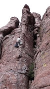 "Rock Climbing Photo: DAS on the second ascent. Note the ""belay coa..."