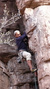 Rock Climbing Photo: AMH on the lower, tricky section.