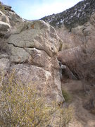 Rock Climbing Photo: The Knobby boulder - view #2