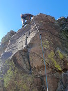 Rock Climbing Photo: Josh Darnell on unknown route near right of Cool T...