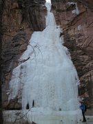Rock Climbing Photo: Thoroughfare Falls, Colorado National Monument, Ja...