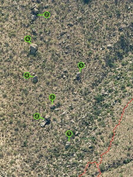 Linda Vista Boulders