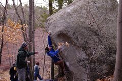Rock Climbing Photo: Gerome looking for anything that will continue upw...
