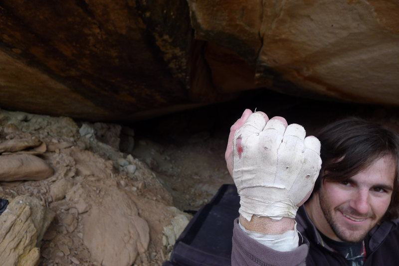 Rock Climbing Photo: Blood will Be Shed.