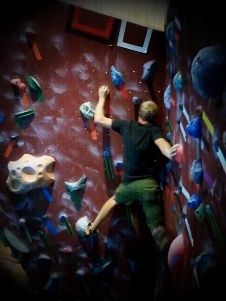 "Rock Climbing Photo: ""Splat"" at Miramont Lifestyle Fitness."