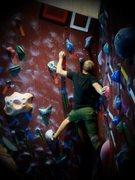 """Rock Climbing Photo: """"Splat"""" at Miramont Lifestyle Fitness."""