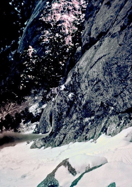 "Sentinel Rock 1963<br> Joe ""Guido"" McKeown<br> Photo by Layton Kor<br> (w/Permission)"