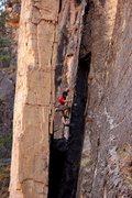 Rock Climbing Photo: Enchanted Porkfist, photo credit to Nate.