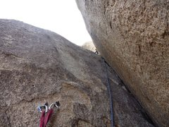 Rock Climbing Photo: 3rd pitch chimney. Too strenuous/awkward to place ...