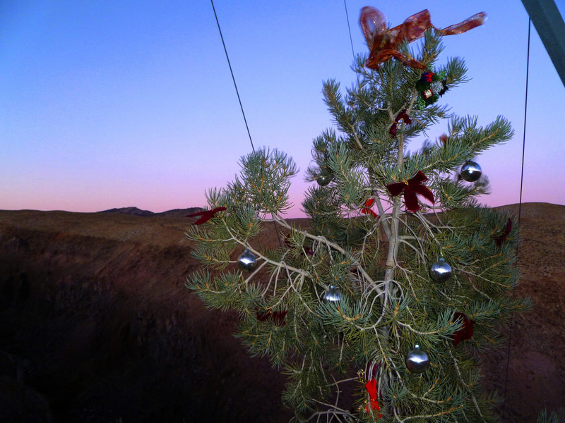 Rock Climbing Photo: A perfect end to the day in December.  [Thank you ...