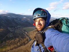 Rock Climbing Photo: Seneca Rocks, WV Summit January 2012