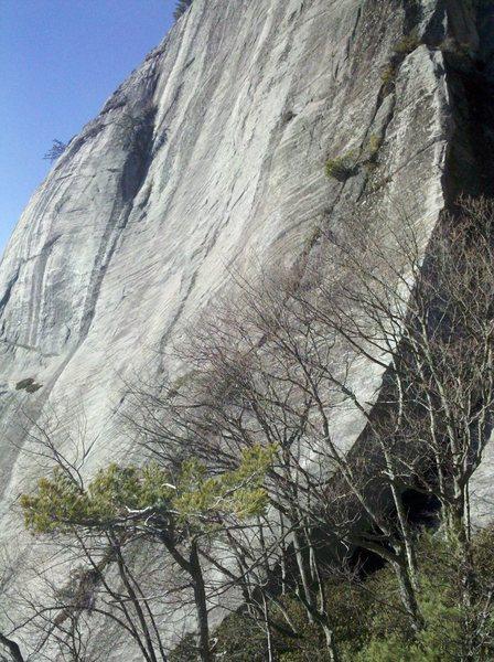 Rock Climbing Photo: First pitch of Dillard Arete.