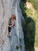 Rock Climbing Photo: some 11b climbing next to a church built into the ...