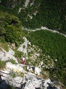 Rock Climbing Photo: Hidden jugs and sidepulls dispersed between pocket...