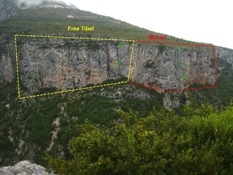 Rock Climbing Photo: Free Tibet and Monier