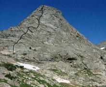 Rock Climbing Photo: Our route on the south face of Cooper Peak.  5.eas...