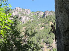 Rock Climbing Photo: Paleface, July 2011, pic by Mike Langenheim.